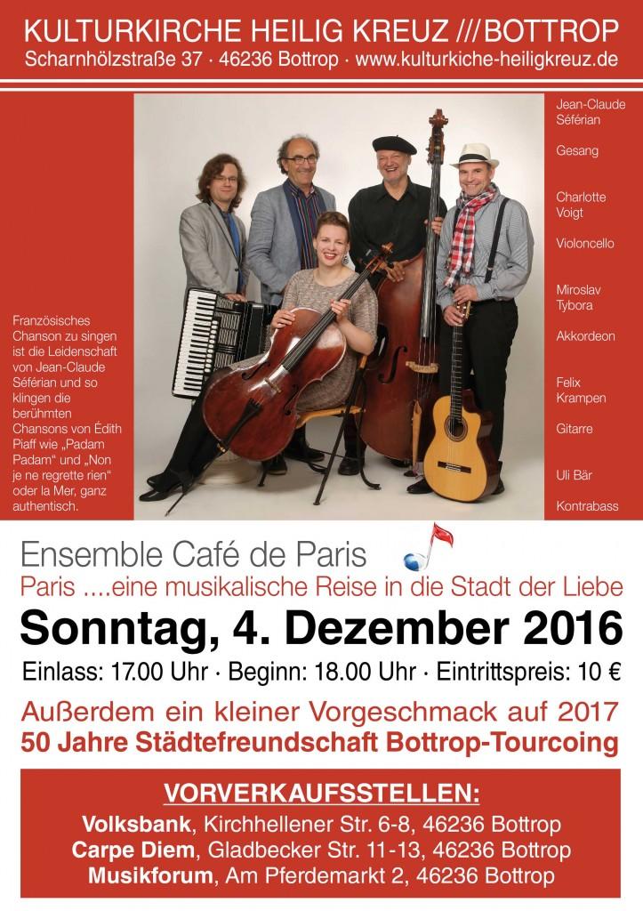 A3 Plakat Ensemble Cafe de Paris